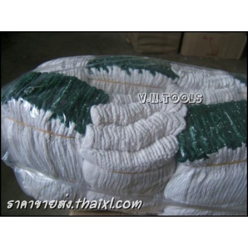 ถุงมือผ้าขอบเขียว 5ขีด (ยกโหล) large