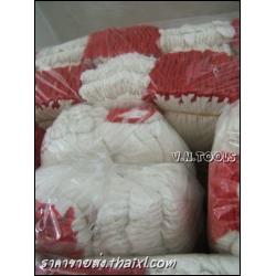 ถุงมือผ้าขอบแดง 4ขีด (ยกโหล)