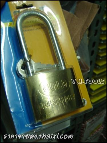 กุญแจทองเหลือง GOLD 50มิล คอยาว (ตัว) large