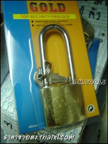 กุญแจทองเหลือง40มิล คอยาว (ตัว) large