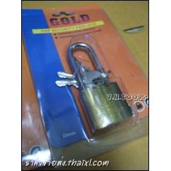 กุญแจทองเหลืองคอยาว25มิล(ตัว)
