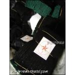ถุงมือผ้าขอบเขียว 5ขีด (ยกโหล)
