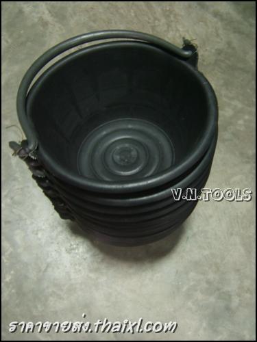 ถังปูนสีดำ หูพีวีซี pvc (ยกโหล) large
