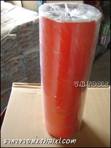 เทปผ้ากาวสีแดง ขนาด2นิ้ว (แถวละหกม้วน) large
