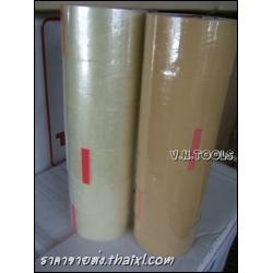 เทปOPP สีน้ำตาล 2นิ้ว (1แถว 6ม้วน)