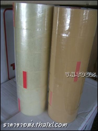 เทปOPP สีน้ำตาล 2นิ้ว (1แถว 6ม้วน) large