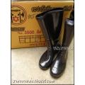 รองเท้าบูทยาง พีวีซี PVC กันน้ำ ตราขวานดาว สีดำ เบอร์10.5 ความสูง14นิ้ว (ยกโหล)